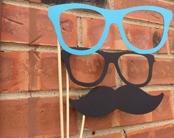 CLOWN GLASSES and MUSTACHE photo booth props