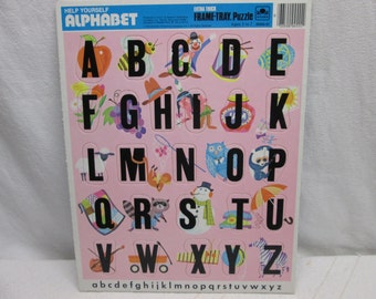 Help Yourself Alphabet Puzzle 1974, Golden childrens puzzles birthday 1974