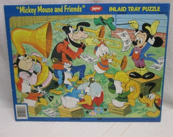 Mickey Mouse Puzzle, 1980s jaymar Childs Puzzle, Birthday 1980s Disney mickey mouse goofy pluto