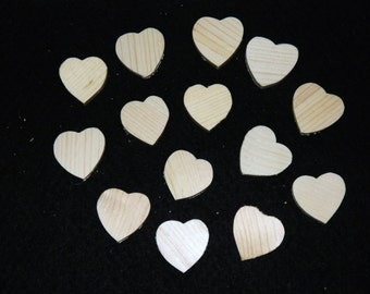 """Wholesale - 100 wooden hearts - approximately 1.5"""" x 1.5""""."""