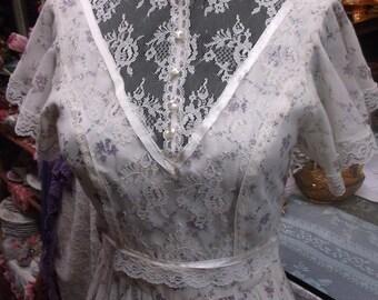 Gunne Sax Style Ivory Prairie Dress