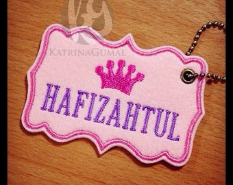 Embroidered & Personalized Bag Tag