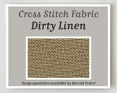 DIRTY 32 ct. hand-dyed cross stitch fabric linen count Belfast Zweigart hand embroidery at thecottageneedle.com