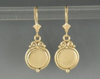 ER549- 14ky Handmade One of a Kind Earrings