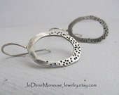 Sterling silver earrings, hand forged earrings, metalsmith earrings, dots and spots