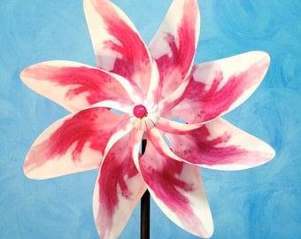 Pink White Rose Flower Pinwheel