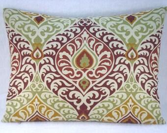 Linen Ikat Decorative Ikat Linen Lumbar Pillow Modern Rustic Ikat Pillow Cover 15x20