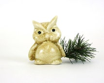 Vintage Small Fat Owl Figurine (E5344)