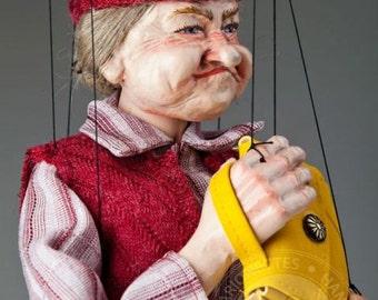 Old Lady Fanny Czech Marionette Puppet