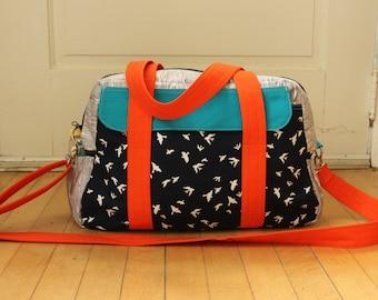 Advanced Sewing Pattern Weekender Travel Bag PDF - Instant download