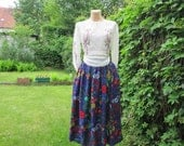 Skirt Vintage / Wool / Silk / Viscose / Size EUR42 / UK14 / Made in West Germany / Pockets / Lining