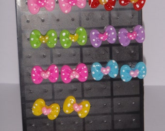 Minnie Mouse Inspired Bowtique Earrings