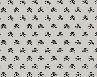 Military Max Skulls in Gray, Bella Blvd, Stephanie Hunt, Riley Blake Designs, 100% Cotton Fabric, C4373-GRAY