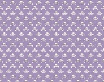 Happy Haunting Skulls in Purple, Deena Rutter, Riley Blake Designs, 100% Cotton Fabric, C4675-PURPLE