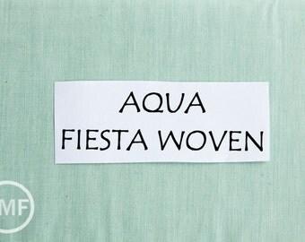 Moda Wovens Fiesta Silky in Aqua, 100% Woven Cotton Fabric, Moda Fabrics, 12130 16