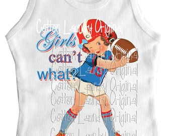 tshirt football tank cap sleeve one piece Childrens tshirt, tank football tshirt