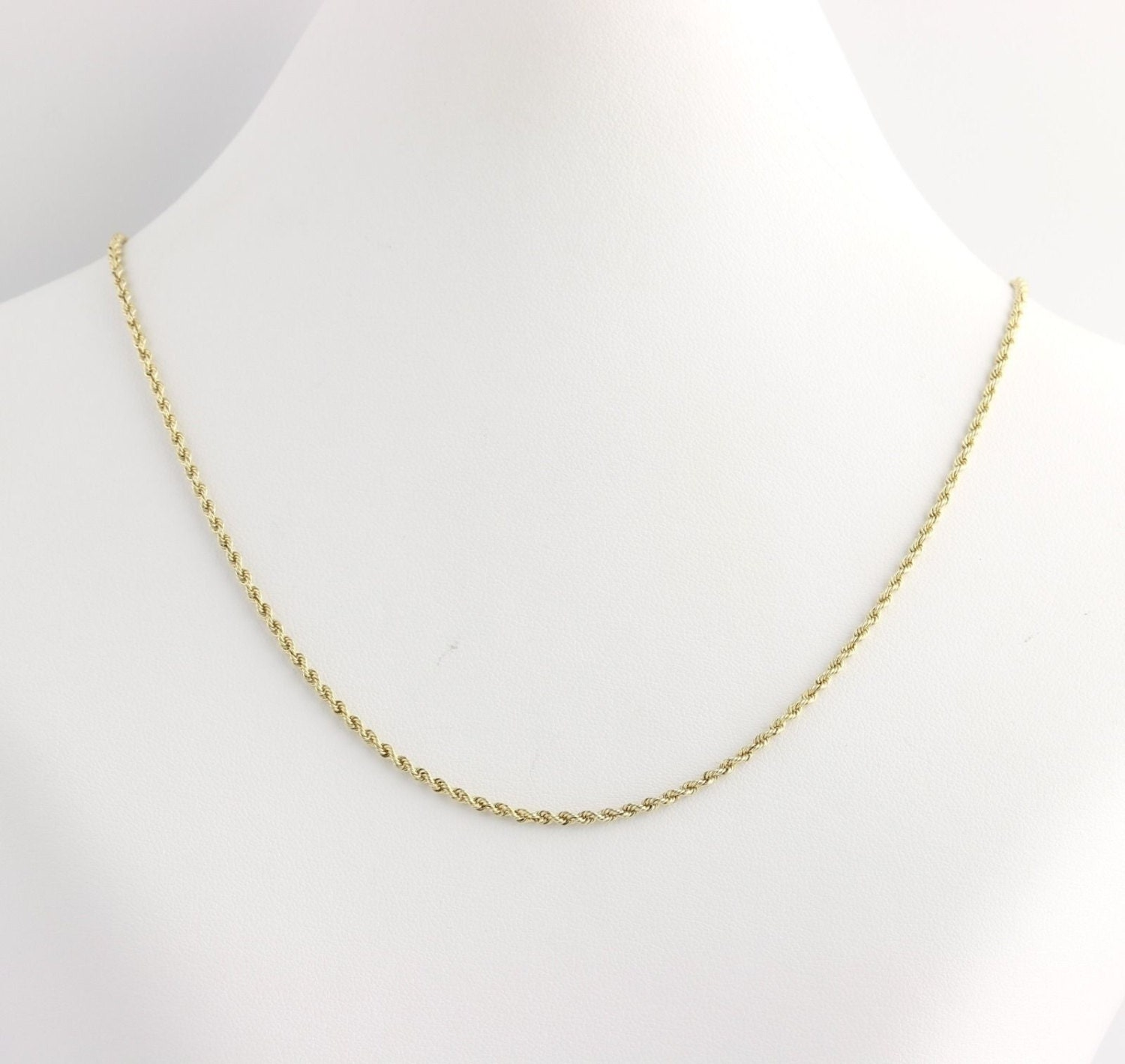 rope chain necklace 19 14k yellow gold s