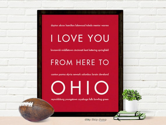 Dorm Room Poster Ohio State Wall Decor by HopSkipJumpPaper ...