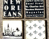 New Orleans Coasters - Set of Four  - ready to ship immediately!