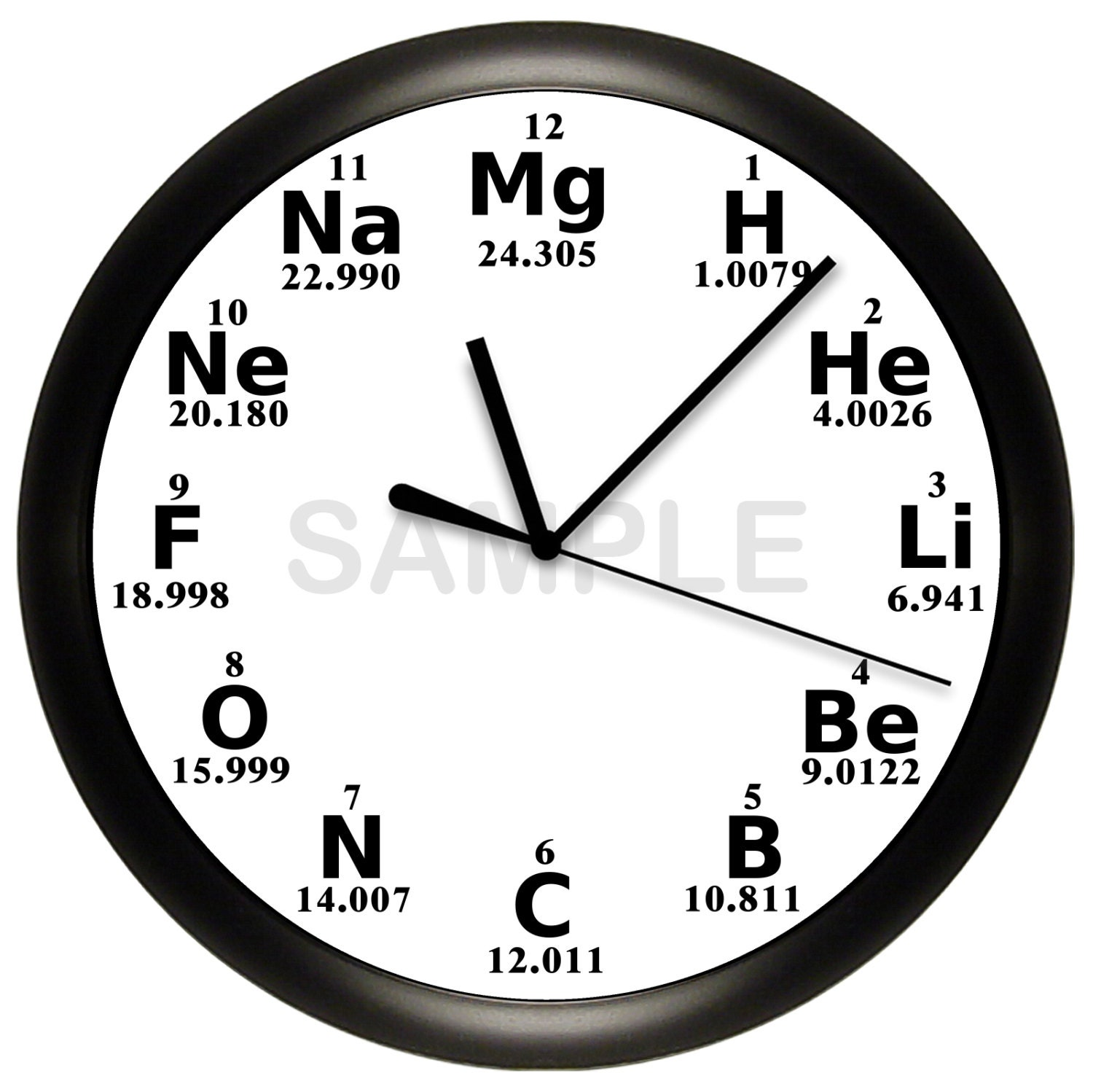 Science Periodic Table Wall Clock