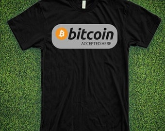 BITCOIN accepted here CRYPTOCURRENCY SHIRT
