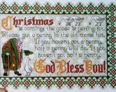 Patricia Andrle CHRISTMAS IS COMING Holiday Picture - Counted Cross Stitch Pattern Chart - fam