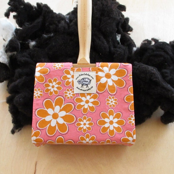 Sm - LONG - Carder Keeper- A Spinners Tool - Flower Child