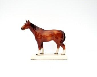 Vintage Horse Figurine, Ceramic Horse, Equestrian Decor