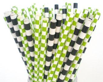 Paper Straws Minecraft Party Mix Paper Drinking Straws Green & Black Paper Straws Creeper Enderman Ghast Birthdays