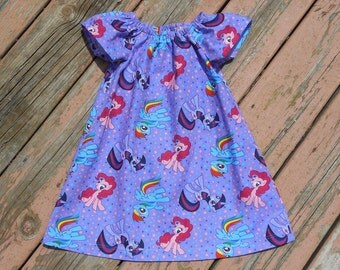 Girl's Infants Toddlers My Little Pony Peasant Dress