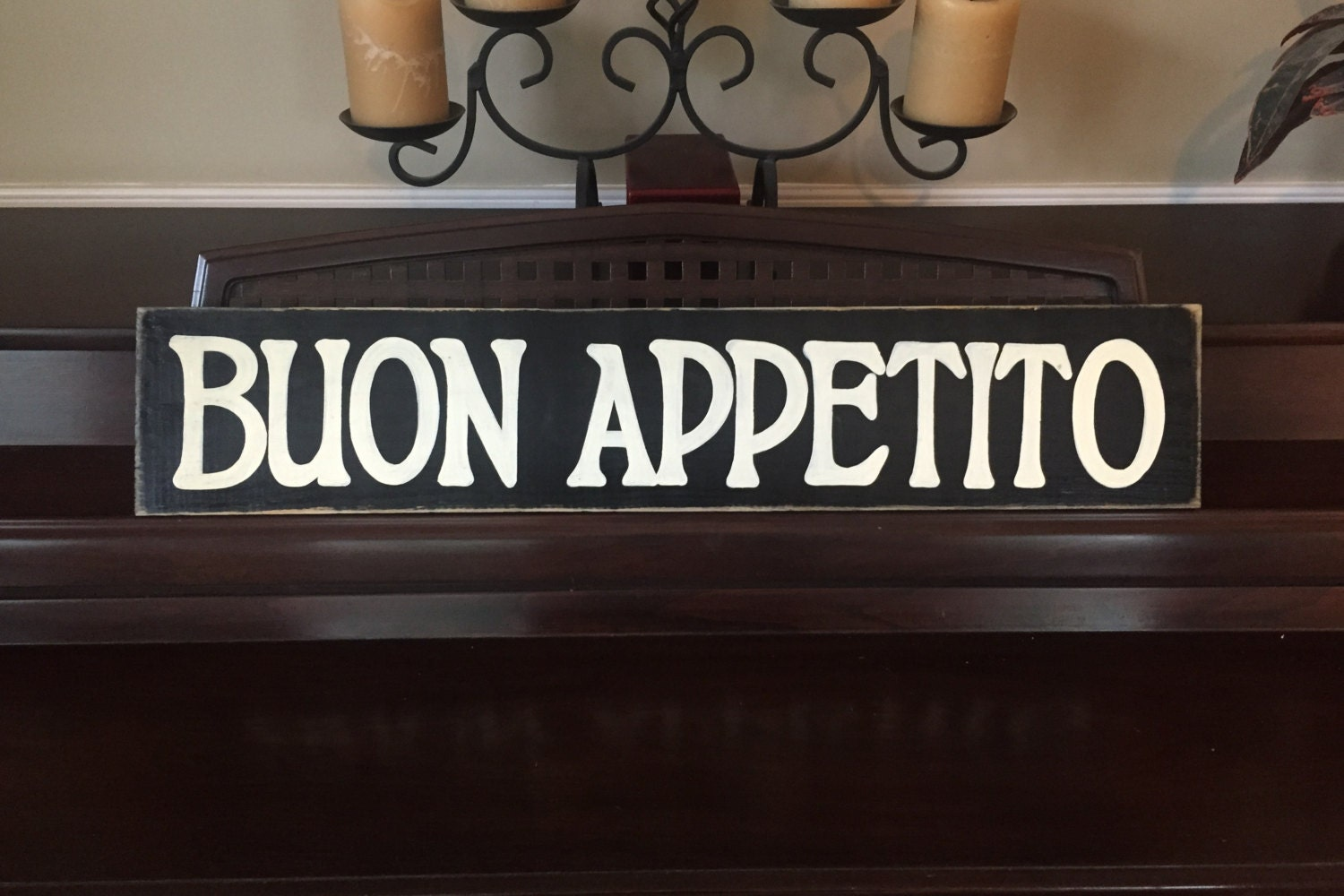 buon appetito italian kitchen food italy sign plaque country. Black Bedroom Furniture Sets. Home Design Ideas