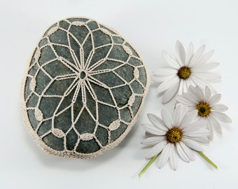 Crochet Stone Pattern, DIY, Lace Stone Cover Pattern, Rock Cozy Pattern, Galaxy, Beach house decor, Tabletop decor, bowl element