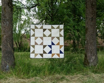 Buffalo Plaid hand quilted homespun patchwork quilt