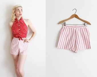 vintage 1960s shorts // 60s high waisted pinup shorts
