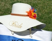 Beach Bride Floppy Hat