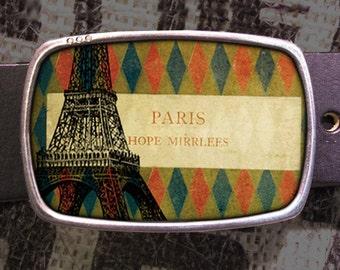 Paris Belt Buckle, Eiffel Tower Buckle, Shabby Chic 622
