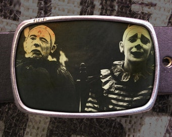 Sad Clowns Belt Buckle 744
