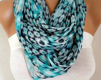 Mint Infinity Chiffon Scarf,Cowl Scarf Circle Loop Scarf Gift Ideas For Her Women Fashion Accessories Women Scarves