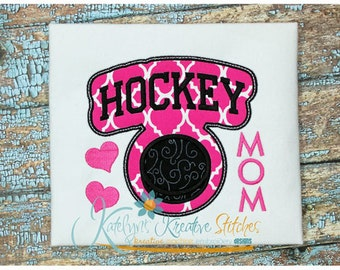 Hockey Mom - Block Arc Applique
