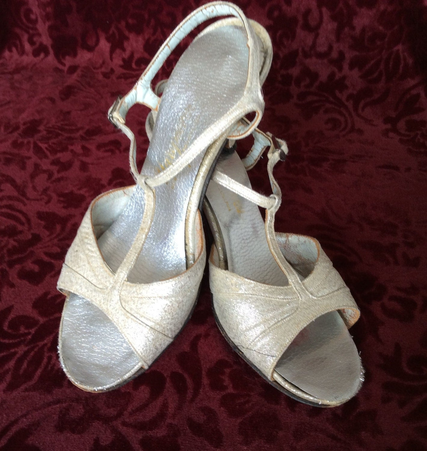 Vintage Glitter Show Girl Shoes