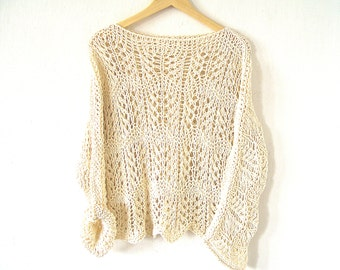 Fancy Loose Open Knit Sweater