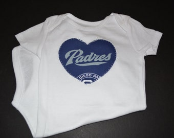 Padres Baby - San Diego Padres - Padres Shirt - Baby Girl - Padres Outfit - Padres Heart