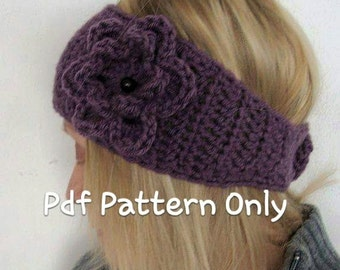 Crochet Wide Head Warmer Pattern PDF