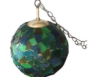 Mid Century Modern California Style Mosaic Pendant Light