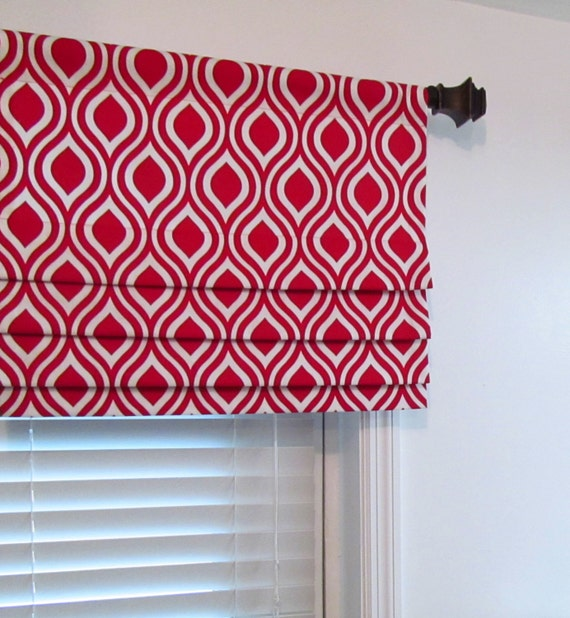 Items Similar To Faux Roman Shade Red Stationary Fake