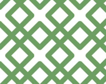 Green Lattice Slip Cover for your existing lampshade - stretches to fit perfectly