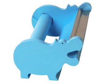 Blue Hippo Washi Tape Holder, Tape Dispenser (Hippo / Large)
