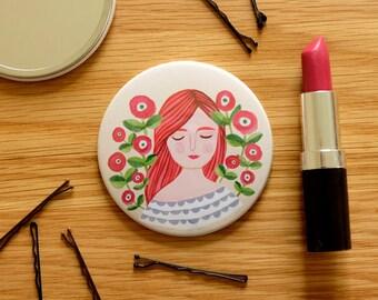Illustrated Pocket Mirror