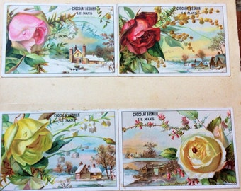 Vintage French Chocolate Adverting Trading/postcards