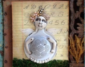 Baby Bump. Original Assemblage On Wood